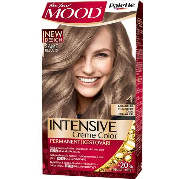 Mood Palette Intensive Cream Colour Ljus Askblond nr 4