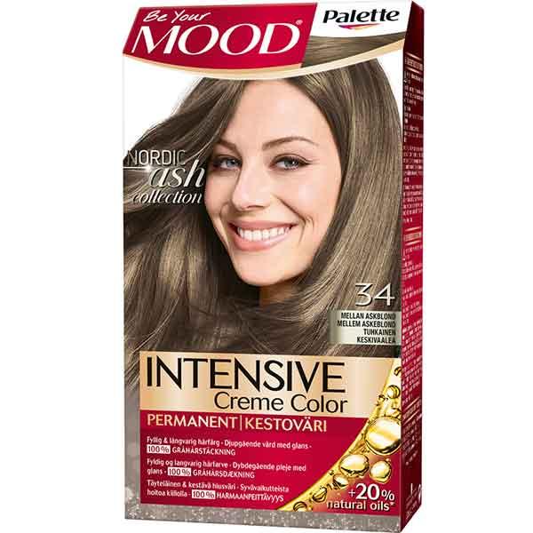 Mood Palette Intensive Cream Colour Mellan Askblond nr 34