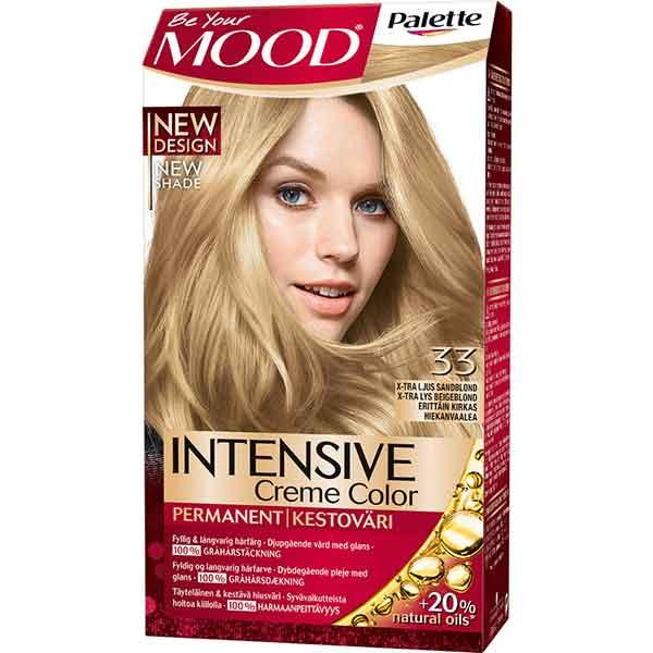 Mood Palette Intensive Cream Colour X-tra Ljus Sandblond nr 33