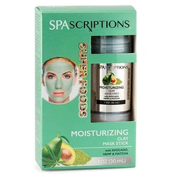 SPASCRIPTIONS Superfoods- Moisturizing Clay Mask Stick with Avocado, Hemp & Matcha