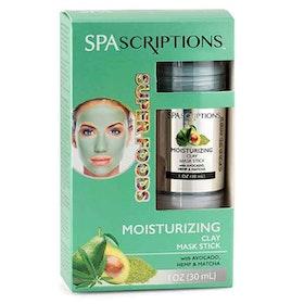 SPASCRIPTIONS Superfoods- Moisturizing Clay Mask Stick with Avocado, Hemp & Matcha