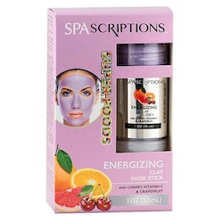 SPASCRIPTIONS Superfoods- Energizing Clay Mask Stick with Cherry, Vitamin C & Grapefruit