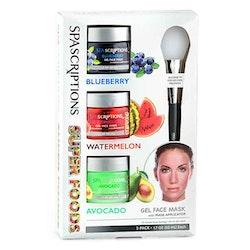 SPASCRIPTIONS Super foods Masks, Blueberry, Watermelon, Avocado Gel Mask