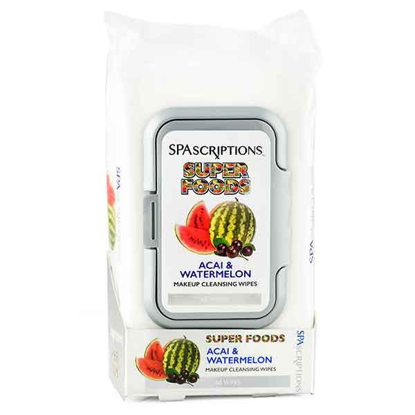 SPASCRIPTIONS Superfoods Watermelon & Acai Makeup Cleansing Wipes