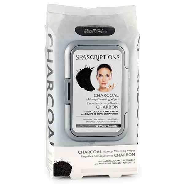 SPASCRIPTIONS Charcoal Makeup Cleansing Wipes