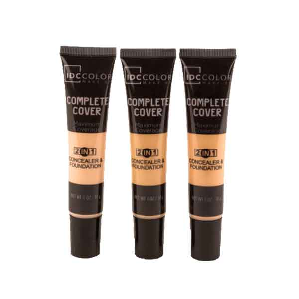 IDC Color Complete Cover 2 in 1 Concealer & Foundation