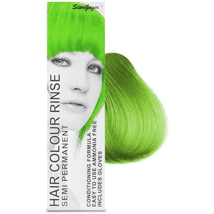 StarGazer Hair Colour Rinse Semi Permanent UV Green