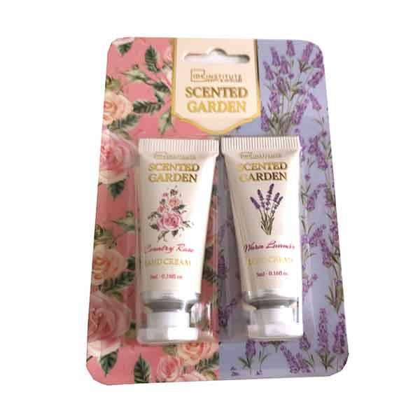 IDC INSTITUTE Scented Garden Hand Cream 2-pack Country Rose / Warm Lavender