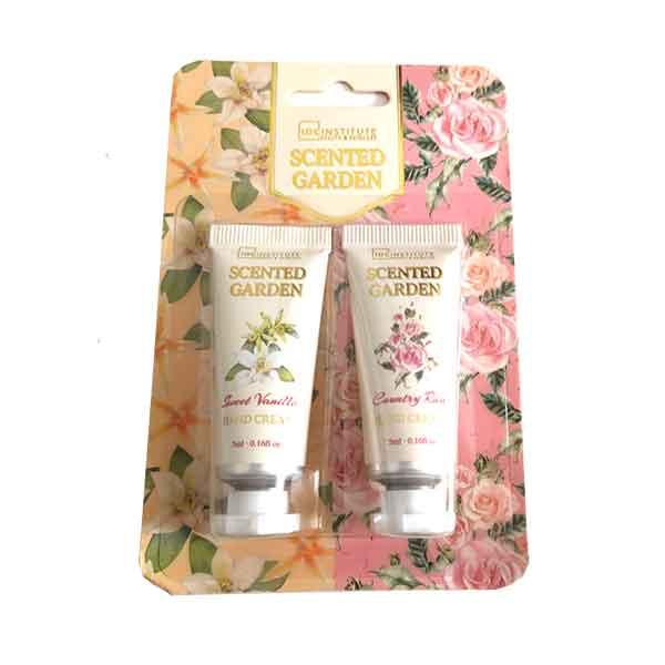 IDC INSTITUTE Scented Garden Hand Cream 2-pack Sweet Vanilla / Country Rose