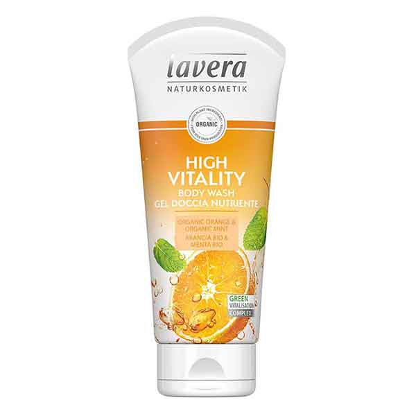 LAVERA Body Wash High Vitality Orange & Mint 200 ml
