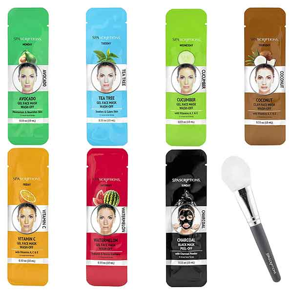 SPASCRIPTIONS 7 Day Mask Set