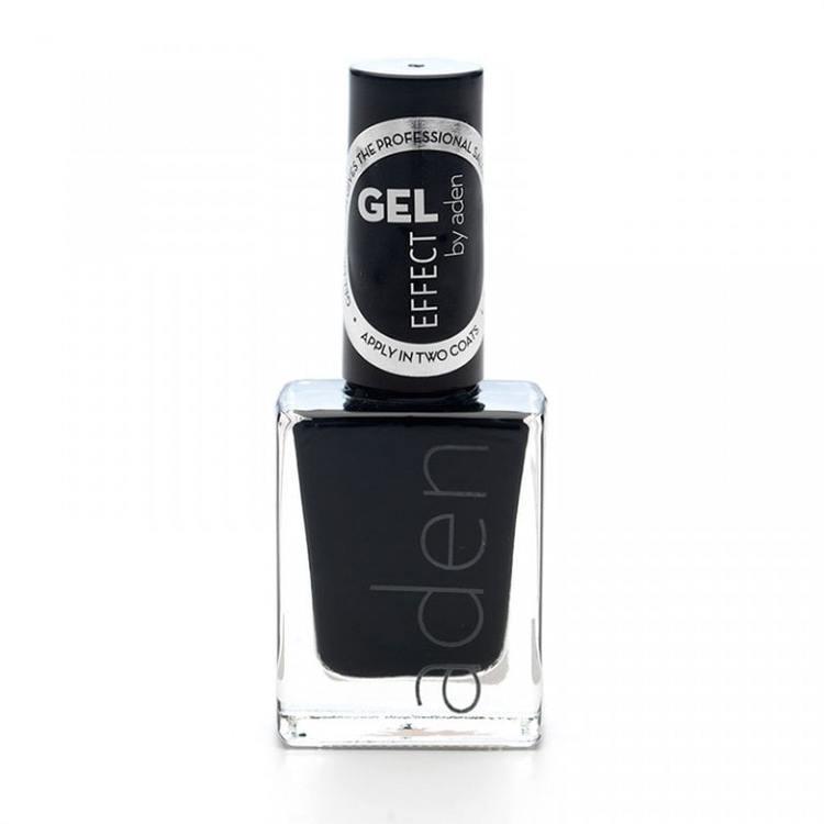 Aden Gel Effect Nail Polish 02 Black