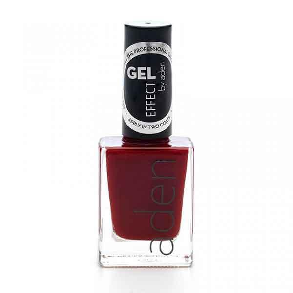 Aden Gel Effect Nail Polish 10 Ruby Red