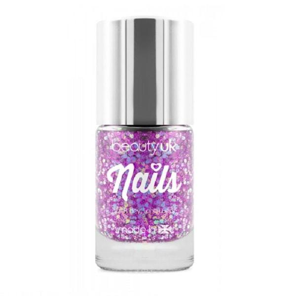 Beauty UK Glitter Nail Polish - Andromeda Purple