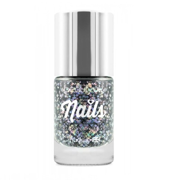 Beauty UK Glitter Nail Polish - Midnight Sky Black