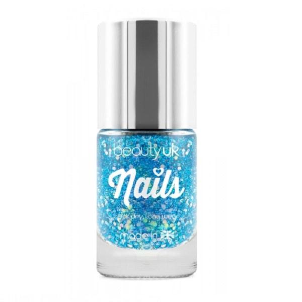 Beauty UK Glitter Nail Polish- Supernova Blue