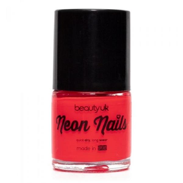 Beauty UK Neon Nail Polish Coral