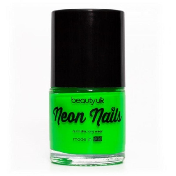 Beauty UK Neon Nail Polish Green