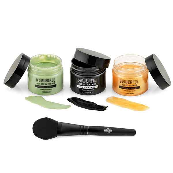 THE NOBLEMAN Black, Tea Tree & Gold Peel-Off Masks with Applicator