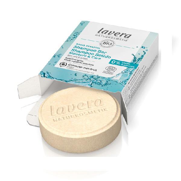 LAVERA Basis Sensitiv Shampoo Bar Solido Moisture & Care 50 g