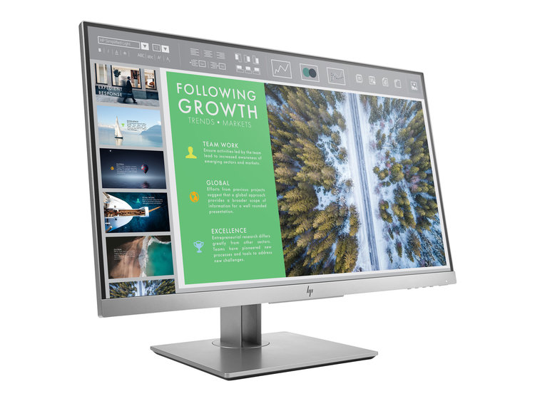 "HP EliteDisplay E243 23.8"" 1920 x 1080 VGA (HD-15) HDMI DisplayPort 60Hz Pivot skärm"