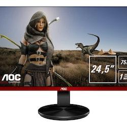 """AOC Gaming G2590VXQ 24.5"""" 1920 x 1080 VGA (HD-15) HDMI DisplayPort 75Hz Pivot skärm"""