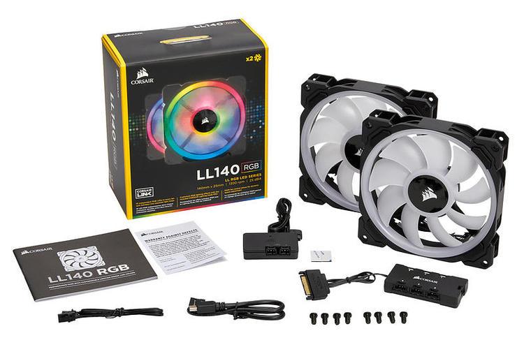 Corsair LL Series LL140 RGB 2-pack med kontroller