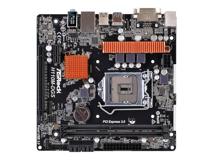 ASRock H110M-DGS Micro-ATX LGA1151 Intel H110 Express