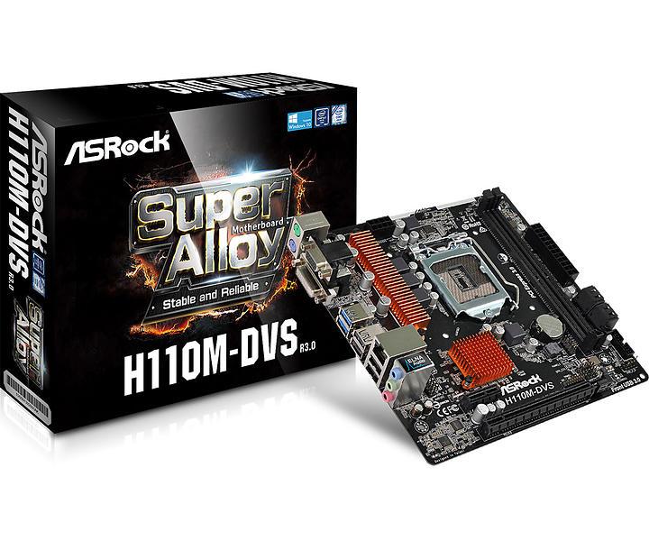 ASRock H110M-DVS Micro-ATX LGA1151 Intel H110 Express