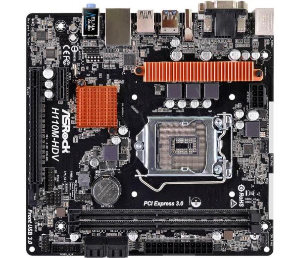 ASRock H110M-HDV R3.0 Micro-ATX LGA1151 Intel H110 Express