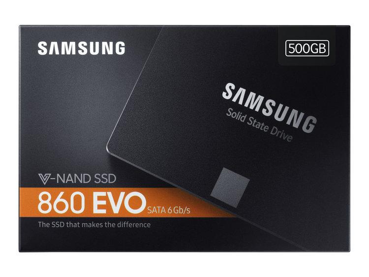 "Samsung SSD 860 Evo 500GB SATA6 2.5"""