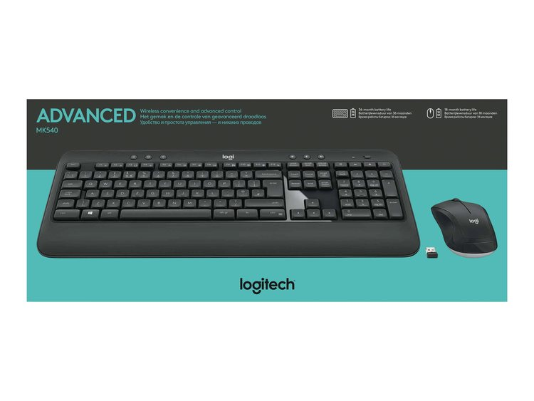 Logitech MK540 Advanced Sats med tangentbord och mus - trådlös - dxtech bcbf55d1ab899