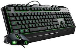 Cooler Master Devastator 3 Tastatur og mus-sæt Gummitrykknap 7 farver Kabling Pan nordisk