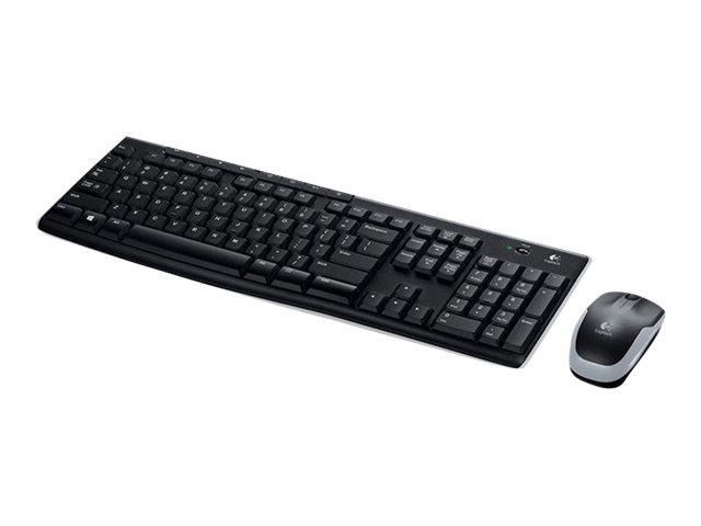 Logitech Wireless Combo MK270 Tastatur och mus trådlös Nordisk