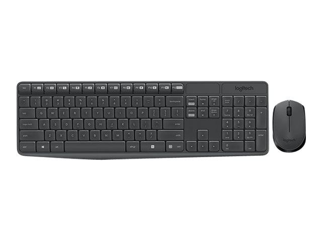 Logitech MK235 Sats med tangentbord och mus trådlös Pan nordisk