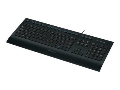 Logitech Corded K280e Tastatur Kabling Nordisk