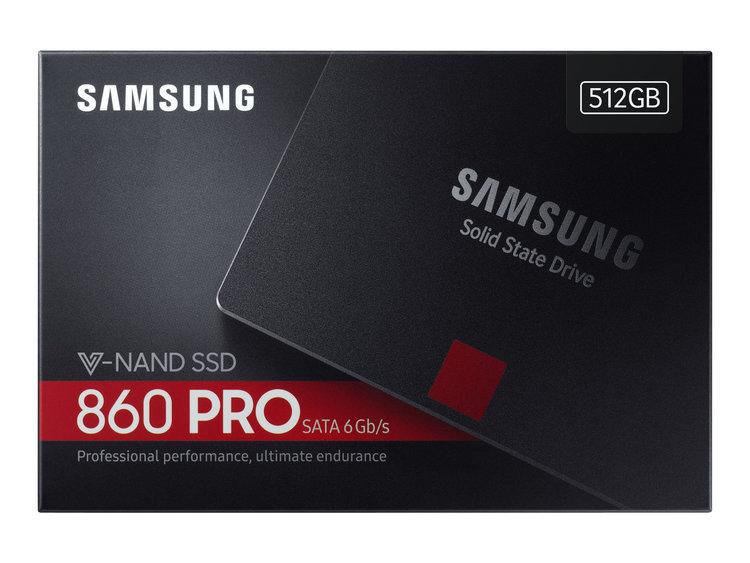 """Samsung 860 PRO SSD MZ-76P512B 512GB 2.5"""" SATA-600"""