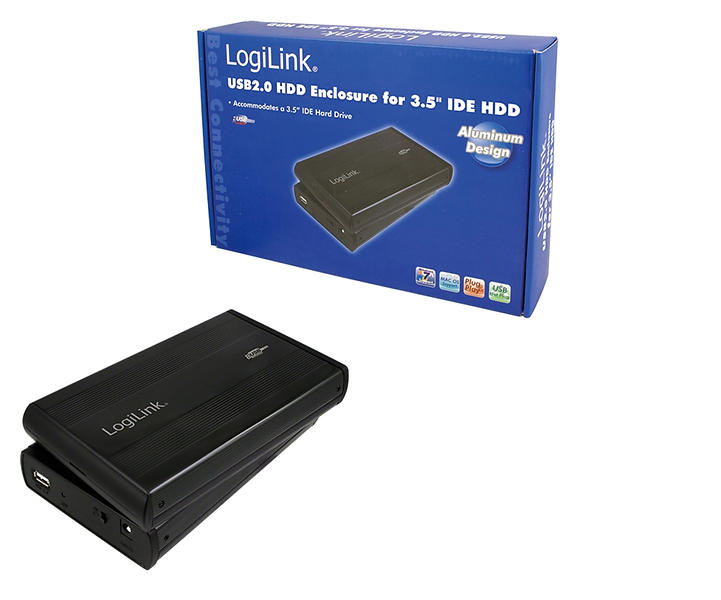 "LogiLink Ekstern Lagringspakning USB 2.0 ATA 3.5"""