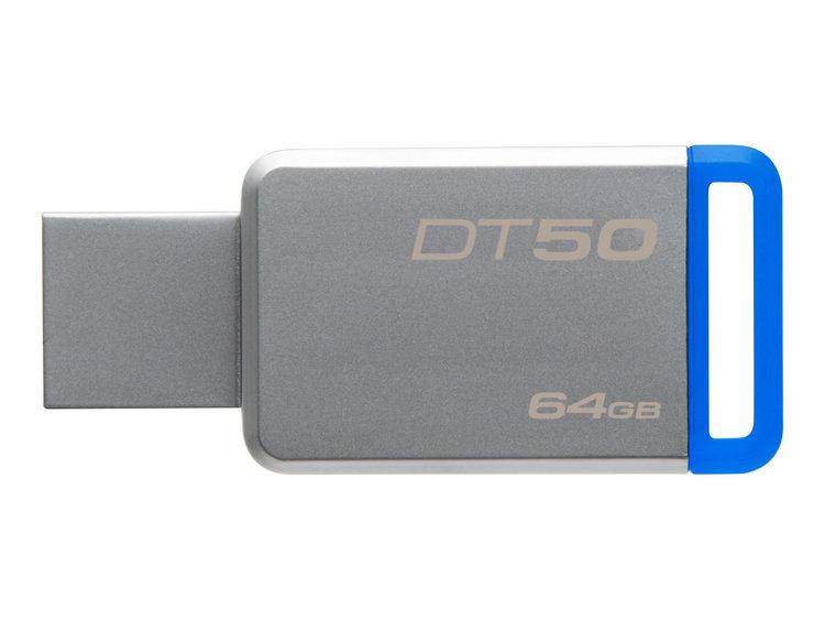 Kingston DataTraveler 50 64GB blå