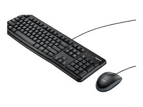 Logitech Desktop MK120 - Sats med tangentbord och mus - USB - Nordiska länderna