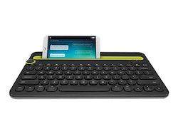 Logitech Multi-Device K480 - Tangentbord - Bluetooth - Danska/finska/norska/svenska - svart