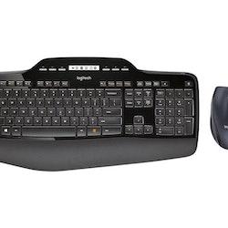 Logitech Wireless Desktop MK710 Tastatur og mus-sæt Trådløs Nordisk