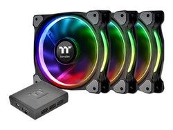 Thermaltake Riing PLUS 12 RGB Fan TT - Premium Edition - fläktsats för system - 120 mm