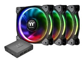 Thermaltake Riing PLUS 12 RGB Fan TT - Premium Edition - fläktsats för system - 120 mm