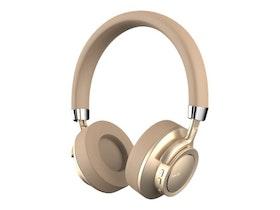 Havit F9 - Hörlurar med mikrofon - på örat - Bluetooth - trådlös - guld