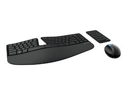 Microsoft Sculpt Ergonomic Desktop - Tangentbord, mus och numerisk knappsats - trådlös - Nordiska länderna