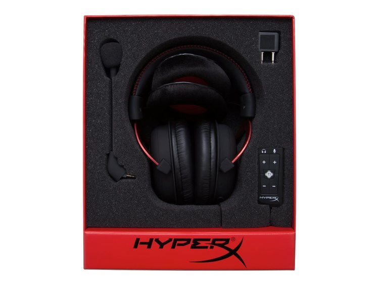HyperX Cloud II Kabling Röd Svart Headset