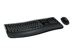 Microsoft Wireless Comfort Desktop 5050 - Sats med tangentbord och mus - trådlös - 2.4 GHz - Danska/finska/norska/svenska