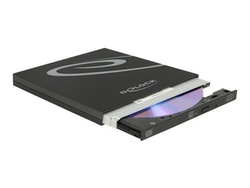 DeLOCK External Enclosure for Ultra Slim SATA Drives 9.5 mm DVD±RW (±R DL) / DVD-RAM / BD-ROM drev
