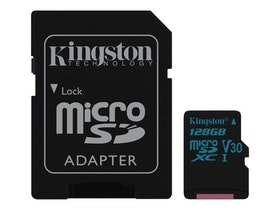 Kingston Canvas Go! microSDXC 128GB Video Class V30 / UHS-I U3 / Class10